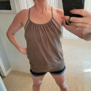 Hard Tail Built in Sports Bra Tank Top Size Large